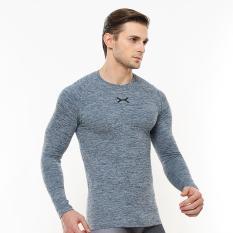 FLEX Kaos Lengan Panjang Kasual Bodyfit FPS-004 Fitness/Atletis/Santai/Gym