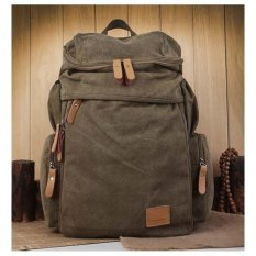 FLONE - Tas Ransel Pria Bahan Kanvas Coklat Vano- Men's Backpack VN02