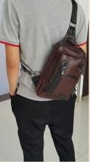 Harga Flone Tas Selempang Pria Coklat Wk01 Mens Sling Bag Murah
