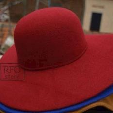 Floppy Hat Topi Pantai Warna Maroon