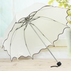 Flouncing Folding Lotus Daun Putri Dome Parasol SUN/Rain Payung BG