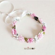 Flower Crown Lady Amore - Mawar Pink  - Shrtpy