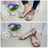 Jual Cepat Flower Sepatu Flatshoes Wanita Pink