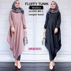 Fluffy Tunic Blus Hijab Model Baru