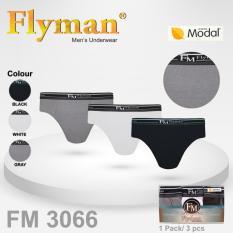 Spesifikasi Flyman 3 Pcs Celana Dalam Pria Underwear Pria Fm 3066 Yang Bagus Dan Murah