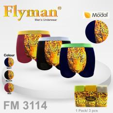 Harga Flyman Boxer Motif Tiger Pria Dewasa Fm 3114 1Pack Isi 3 Flyman Dki Jakarta