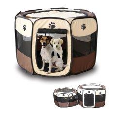Promo Lipat Fabric Pet Play Pen Dog Cat Puppy Playpen Kennel Run Cage Tenda Pagar Intl Moonar Terbaru