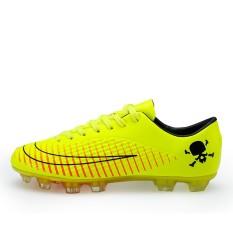Football Sepatu Sepatu Pria Kuku Yang Rusak Natural Grassland Rumput Kulit Kaki Anak Olahraga Sepatu (pengiriman Cepat) -Intl
