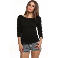Perdagangan Luar Negeri Ekspor EBay Wanita Eropa dan Amerika Lace Sexylace Lengan Panjang Halter T Kaos Kemeja & Nbsp; -Intl