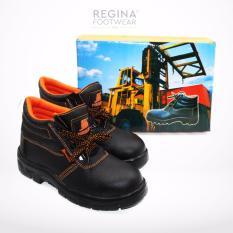 52 Superstore Sepatu Safety Shoes  Forklift Kulit Sintetis 002 - Hitam Size 39/46