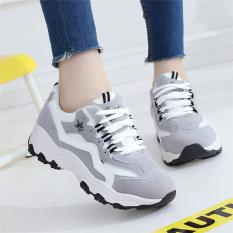 Berapa Harga Sepatu Olahraga Wanita Bersirkulasi Udara Santai Versi Korea Abu Abu Abu Abu Di Tiongkok
