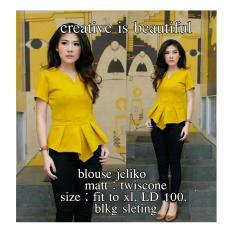 Fortune Fashion Blus Jeliko - Mustard / Kemeja Wanita / Kemeja Murah / Blus Murah