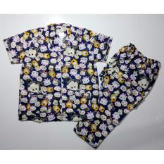 Fortune Fashion Baju Tidur Wanita CP Tsum Besar - Navy / Piyama Murah / Piyama Karakter / Baju Santai / Daster / Daster Murah