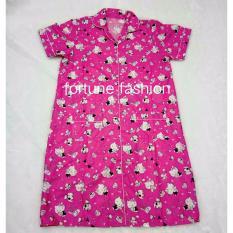 Beli Fortune Fashion Daster Kitty Mania Pink Piyama Murah Piyama Karakter Baju Santai Daster Murah Baju Tidur Wanita Secara Angsuran