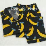 Harga Hemat Fortune Fashion Piyama Cp Banana Hitam
