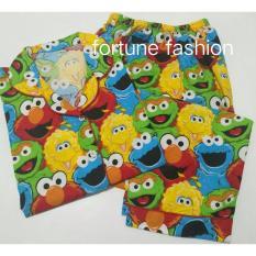 Fortune Fashion Piyama CP Elmo - Kuning / Piyama Murah / Piyama Karakter / Baju Santai / Daster / Daster Murah / Baju Tidur Wanita