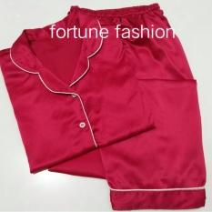 Fortune Fashion Piyama CP Satin - Fanta / Piyama Murah / Piyama Karakter / Baju Santai / Daster / Daster Murah / Baju Tidur Wanita