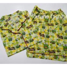 Jual Fortune Fashion Piyama Keropi Pendek Piyama Murah Piyama Karakter Baju Santai Daster Daster Murah Baju Tidur Wanita Fortune Fashion Grosir