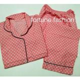Jual Fortune Fashion Piyama Polkadot Pink Di Jawa Barat