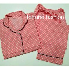 Harga Fortune Fashion Piyama Polkadot Pink Terbaru