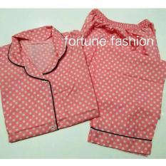 Jual Fortune Fashion Piyama Polkadot Pink Fortune Fashion Branded