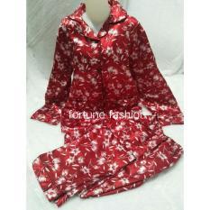 Toko Fortune Fashion Piyama Import Satin Bunga Merah Dki Jakarta