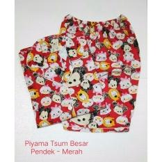 Harga Fortune Fashion Piyama Tsum Besar Pendek Merah Piyama Murah Piyama Karakter Baju Santai Daster Daster Murah Baju Tidur Wanita Fortune Fashion