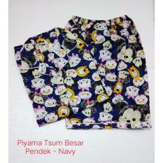 Fortune Fashion Piyama Tsum Besar Pendek - Navy