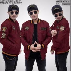 Spesifikasi Forwad Jaket Pria Bomber Xua Keren Merah Maroon Beserta Harganya
