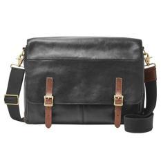 Ulasan Fossil Defender Messanger Black Bag For Laptop Mbg9037001 Hitam