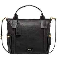 Situs Review Fossil Emerson Satchel Black Zb6458001