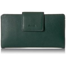 Fossil Emma Rfid Tab Clutch Alpine Green Wallet