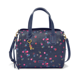 Review Terbaik Fossil Emma Satchel Zb6907400 Dot Navy Multicolor
