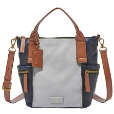 Fossil Emmerson Satchel Medium Blue Multi Promo Beli 1 Gratis 1