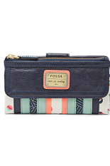 Fossil Emory Long Green Patchwork - Green Multicolor