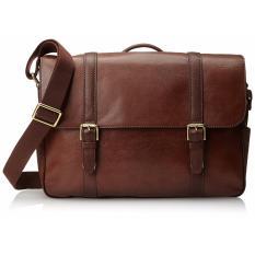 Fossil Estate Ew Messenger For Laptop Mbg9153222 Cognac Brown Terbaru