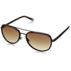 Fossil FOS2009S Aviator Sunglasses,Satin Brown,59 mm