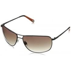 Fossil FOS3013S Aviator Sunglasses,Matte Black,62 mm