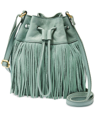 Fossil Jules Fringe Drawstring Sea Glass