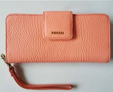 Jual Fossil Madison Zip Clutch Papaya Swl 1575241 Branded