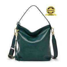 Fossil Maya Small Hobo Alpine Green Leather Bag - Tas Wanita - Hijau