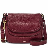 Fossil Peyton Double Flap Wine Zb 6920609 Original