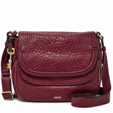Jual Cepat Fossil Peyton Double Flap Wine Zb 6920609