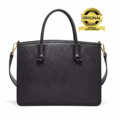 Fossil Skylar Satchel Leather Bag - Tas Wanita - Hitam