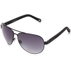 Fossil Womens FOS3033S Aviator Sunglasses, Matte Black & Gray Gradient, 63 mm
