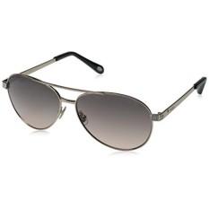 Fossil Womens FOS3051S Aviator Sunglasses, Rose Gold/Smoke Tan, 60 mm