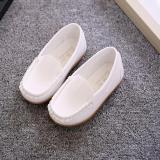 Four Seasons Anak Laki Laki Dan Anak Perempuan Sepatu Santai Warna Solid Putri Fashion Sepatu Yang Lembut Putih Internasional Diskon Tiongkok