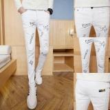 Toko Four Seasons New Jeans Pria Boys Siswa Muda Ketat Kaki Lubang Untuk Pria Trend Celana Pria 01 Intl Dekat Sini