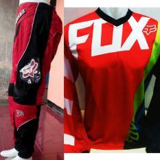 Fox Jerset Jersey Celana Trail Cross Motocross (Merah3)
