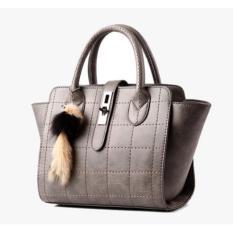 Spesifikasi Zeebee Premium Tas Impor Tas Jinjing Hand Bag Tas Selempang Light Grey Free Gantungan Boneka Dan Harganya